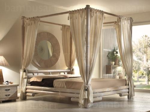 łóżko Tabanan Z Baldachimem 140160180200200